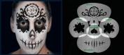 Nixs Coll-Sugar Skull Basic #2 Airbrush Makeup Face Template