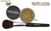 "ITAY Beauty 100% Natural Mineral 9gr Colour - MF10cm Golden Nutmeg"" Foundation + * * Application Brush"