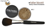 """ITAY Beauty 100% Natural Mineral 9gr Colour - MF18cm Italian Biscotti"""" Foundation + * * Application Brush"""
