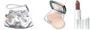 RAMY Pure Radiance Pressed Powder , Smile Lipstick, & Silver Bag Gift Set