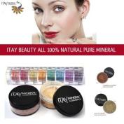 Itay 100% Mineral Foundation MF1 'Cream Marfil' + 8-stack 100% Mineral Eyeshadow 'Carribean Samba' + * * ITAY 100% Mineral Blush MB6 'Raspberry Smoothie'