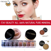 Itay Beauty Mineral Cosmetics Eye Shadow Shimmer 8 Stack: Best 4 Green Eyes + Mineral Foundation Colour