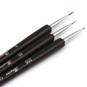 HM Nail Art Brushes- Professional Nail Art Brushes- Sable Nail Art Brush Pen, Detailer, Liner **Set of 3