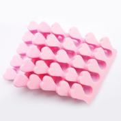 6 Pcs Soft Sponge Toe Finger Separator Nail Art Manicure, Pink