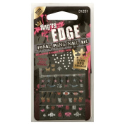 Fing'rs Edge Decals, Royal Punk Nail Art, 4 ct.
