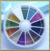 Mix Colour Mini Steel Ball Bead Wheel Nail Art Acrylic Tips Uv Gel