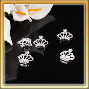 LY 5Pcs Fashion Nail Art 3d Crown Shaped Rhinestone Metal Decoration B0072