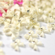 New Arrival 100pcs/pack White Resin Bow Tie Nail Art Decoration