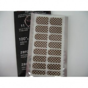 Fashion Nail Film Shiny Self Adhesive Nail Sticker Patch - Black on Gold Checker Pattern