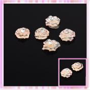 LY Orange Rose Design Nail Art Sticker Decoration 5pcs B0172