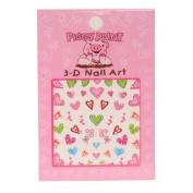 Piggy Paint 3-D Heart Nail Art
