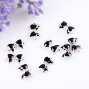 350buy 10pcs Black 3D Alloy Rhinestones Nail Art Bow Tie Glitters Slice DIY Decoration