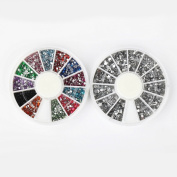 Nail Rhinestones By Cheeky- Bundle of Nail Art Rhinestones Wheels
