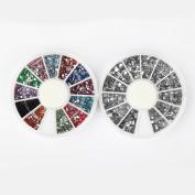 Nail Rhinestones By Cheeky- Bundle of Nail Art Rhinestones Wheels