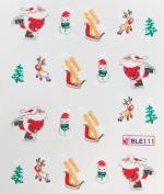 Deco Nail art water transfer hydroplaning nail stickers decals Santa Claus Christmas Tree Snowman Sheep