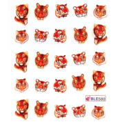 Deco Nail decals water transfer decals nail hydroplaning nail stickers Fireworks colour Steller's booming