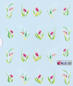 Deco Nail decals water transfer nail decals the hydroplaning nail stickers grass flowers
