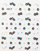 Fashion hot selling black and white flower stereoscopic 3D nail art nail decals nail stickers
