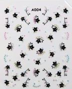 Hot selling stereoscopic 3D nail art nail decals nail stickers star and flower
