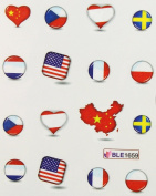 Miao Yun Flags nail decals water transfer decals nail hydroplaning nail stickers