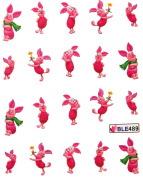 Miao Yun Happy pig dancing nail decals water transfer decals nail hydroplaning nail stickers