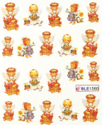 Miao Yun Hot selling lovely angel baby water transfer decals nail hydroplaning nail decals