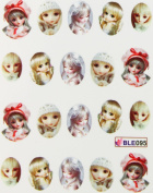 Miao Yun Lovely Barbie nail decals water transfer decals nail hydroplaning nail stickers
