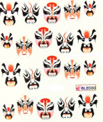 Miao Yun Nail decals water transfer nail decals the hydroplaning nail stickers opera mask