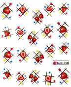 Miao Yun Strawberry and star water transfer decals nail hydroplaning nail decals