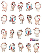 Yao Shun 2012 latest nail stickers water transfer decals cartoon baby
