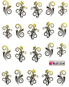 Yao Shun Fashion design nail decals water transfer decals stickers flower vine