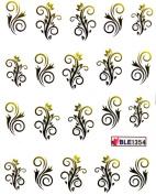Yao Shun Fashion design nail decals water transfer decals stickers flower vine