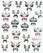 Yao Shun Nail art water transfer nail decals the hydroplaning nail stickers opera mask