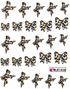 Yao Shun Water transfer decals nail hydroplaning nail stickers Leopard butterfly bow
