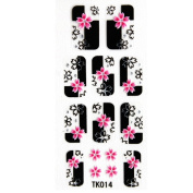 YiMei Fashion design a manicure nail decals stereoscopic 3D diamond nail stickers flower