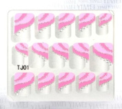 GGSELL YiMei Nail art nail stickers fashion French nail decals pink striped