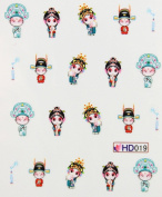 Miao Yun Chinese Beijing Opera nail decals water transfer decals nail hydroplaning nail stickers