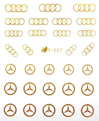 egoodforyou ble golden plate mercedes benz logo and olympic logo nail art water slide nail. Black Bedroom Furniture Sets. Home Design Ideas