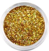 Moyou Nail Art Tiny Hexagon Glitters - Gold