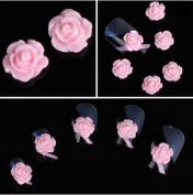 350buy 20pcs 3D Pink Little Rose Flower with Rhinestones Nail Art Decoration