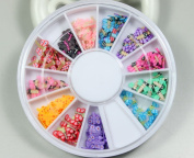 12 Colours clay tablets dragonfly Designs Nail Art Polymer Decal Slices in Wheel