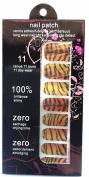 JK 16 pcs nail art Nail patch nail stickers nail foil Orange Black Leopard nails film