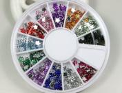 Rhinestones plum drill style 12 Colours Nail Art Nailart Manicure Wheels