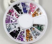 Rhinestones raindrops drill style 12 Colours Nail Art Nailart Manicure Wheels