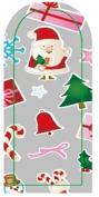 GGSELL JK 16 pcs nail art Nail patch nail stickers nail foil Merry Christmas Santa Claus Christmas tree bells gift