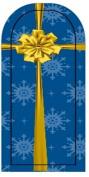GGSELL JK 16 pcs nail art Nail patch nail stickers nail foil Merry Christmas Snowflake packaging gift box
