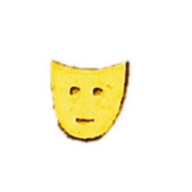 Gold Drama Face/Mask Nail Stickers/Decals