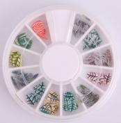 Nails Gaga 2 Wheel 3d Nail Art Tips/ Fimo Slice/Glitters Rhinestones Beads Wheel / Nails sticker / Fimo leaves