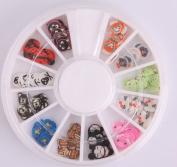 Nails Gaga 2 Wheel 3d Nail Art Tips/ Fimo Slice/Glitters Rhinestones Beads Wheel / Nails sticker / Fimo toys