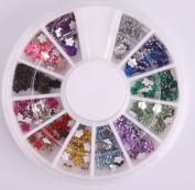 Nails Gaga 2 Wheel 3d Nail Art Tips/ Fimo Slice/Glitters Rhinestones Beads Wheel / Nails sticker / Rhinestones Flower